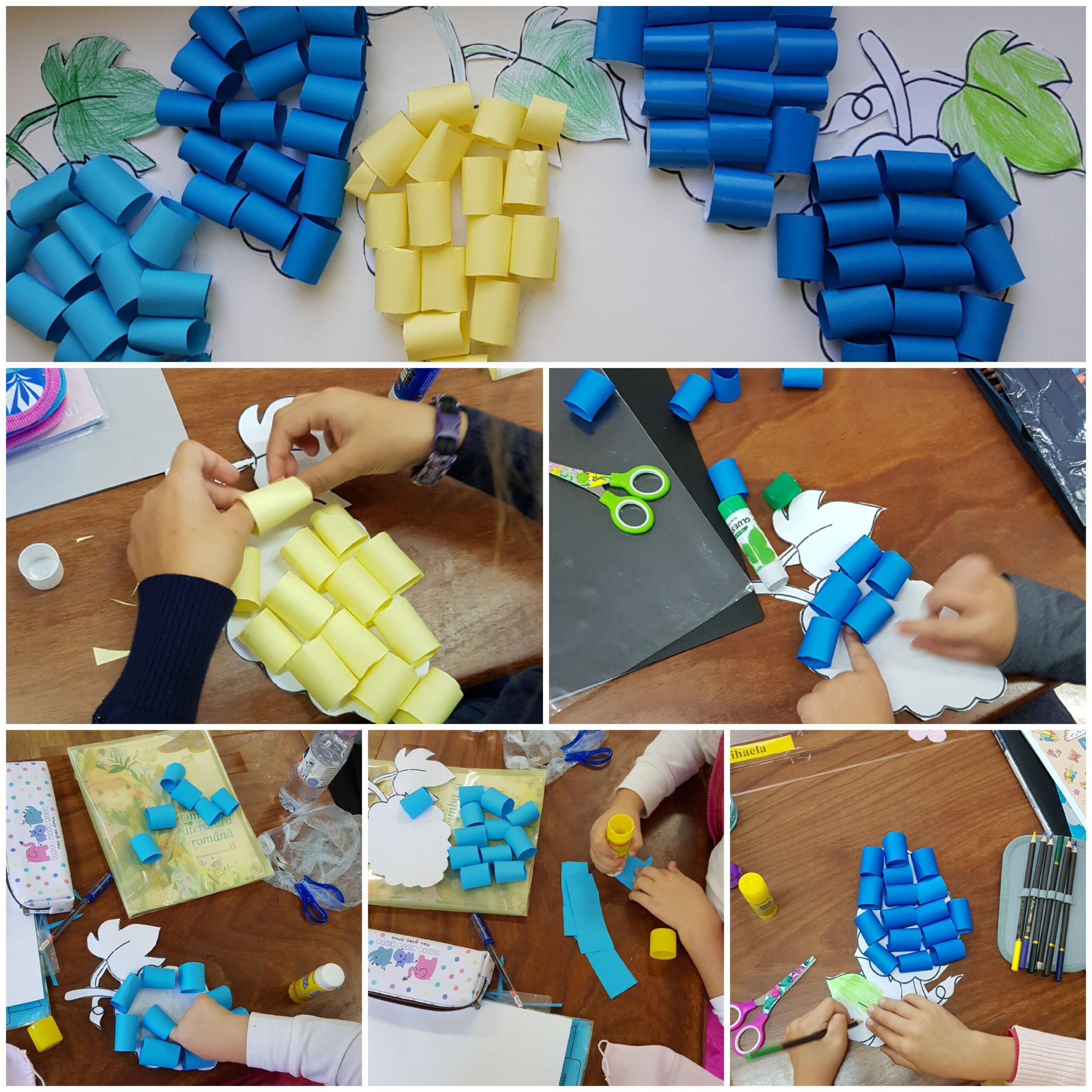 """Toamna în Moldova! Activitate realizată de către elevii clasei a II-a """"A"""" în cadrul lecției de educație tehnologică"""